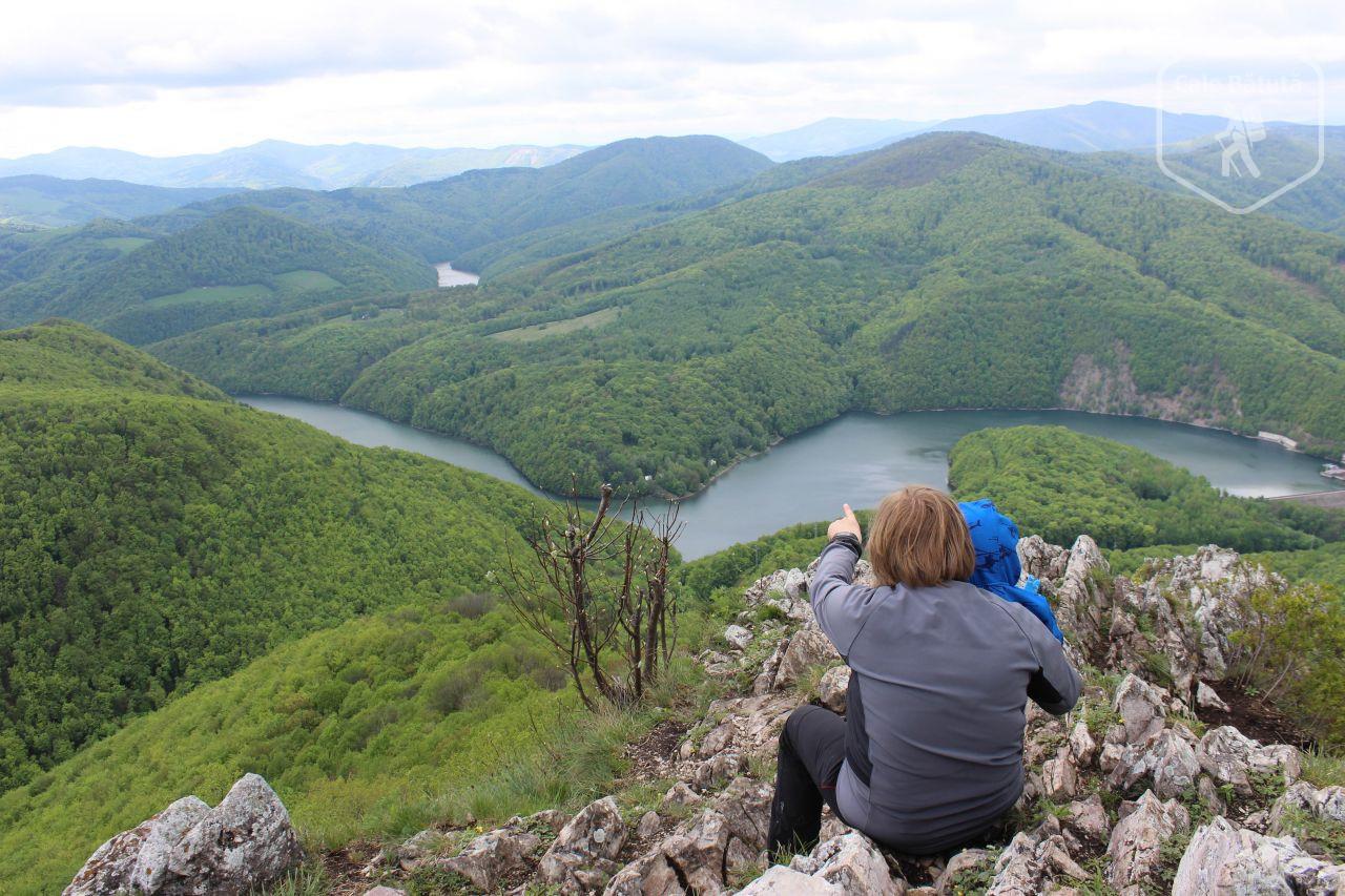 Slovacia - Barajul Ružín văzut de pe Vârful Sivec